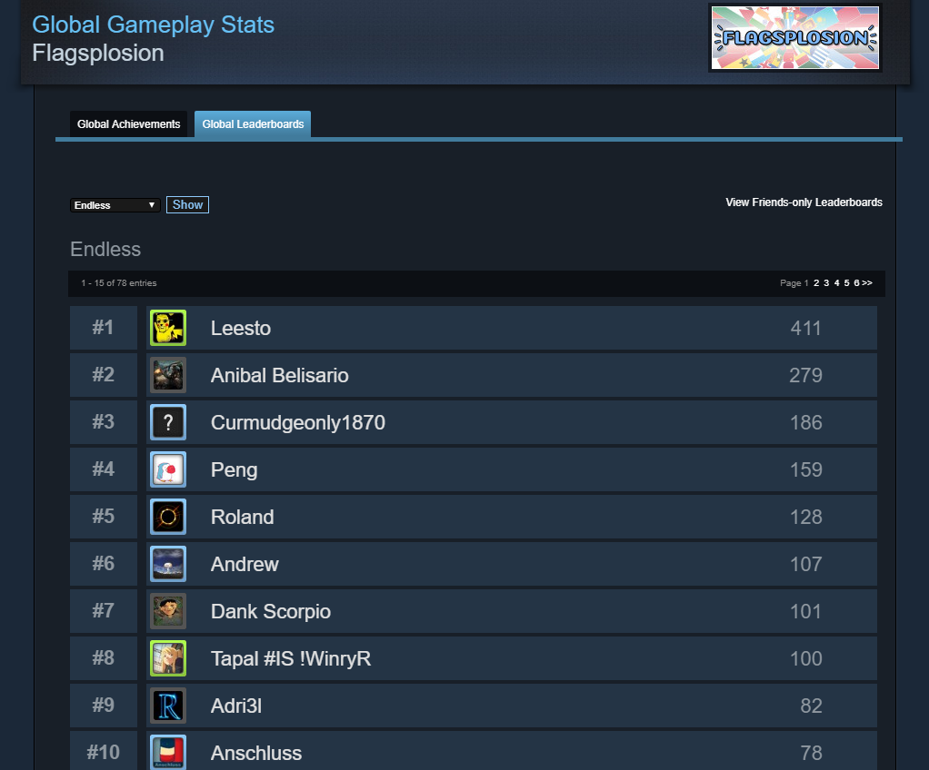 Image of Steam Leaderboards